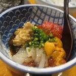 かぐら坂 新富寿司 - 適当に作ってくれた酒の肴・・・名前は・・・ない・・・