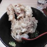 本町製麺所 天 - とり天ぶっかけうどん