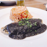 レストラン マルヤマ - 舌平目のソテー黒ごまソース(*⁰▿⁰*)