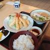かなくま餅 - 料理写真:えび天定食