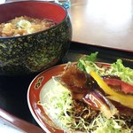 クリオン - 料理写真:天ぷらそばとハタハタの黒酢あん