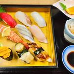 寿司一作 - ☆GW限定☆特選にぎり(赤だし・小鉢。果物付)