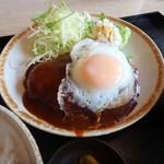 味処 いこい - 料理写真:黒豚ハンバーグ定食