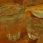 ニュー呑呑 - ニコニコ太郎(泡盛)水割りと山ねこ(芋)のロック