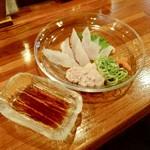 八五郎 - 料理写真:[2019/03]かわはぎ・生肝付き(750円)