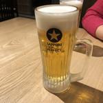 原始炭焼 燗と - まずはビール!