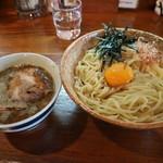 黄昏タンデム - 釜玉つけ麺です☆ 2019-0428訪問