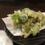 二本松 - ふきのとう天ぷら¥480
