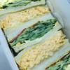 Sandowicchiruman - 料理写真:ぎゅうぎゅうに詰められた厚みが芸術的なサンドウィッチ(๑>◡<๑)♡