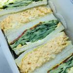サンドウィッチ ルマン - 料理写真:ぎゅうぎゅうに詰められた厚みが芸術的なサンドウィッチ(๑>◡<๑)♡