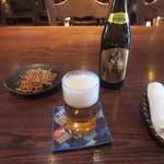 玄庵 - ビール・お通し
