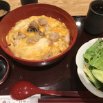 Hokkoriya - ゆず塩親子丼サラダセット1050円