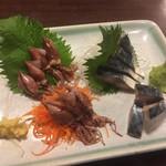 ニュー浅草本店 - ホタルイカ¥500と、しめさば¥500