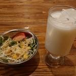Asian Dinning&Bar SITA–RA - サラダ&ラッシー。