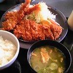 とんかつと和食 てつ兵衛 - エビロースカツ定食
