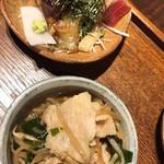 北野坂栄ゐ田 - 漬け鮪、鰹、ポークの炒めもの