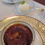 ビストロ ダイア - ほうじ茶のクレーム・ブリュレ ミルクジェラート添え