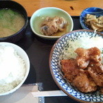 隠家 - 料理写真:唐揚げ定食