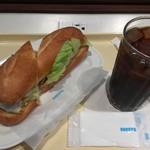 ドトールコーヒーショップ - ミラノサンドAとアイスコーヒー