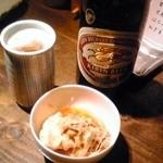 鳥雅 - 中瓶ビール+お通し