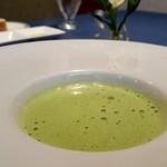 ル・モノポール - 本日のスープ グリンピースのスープ