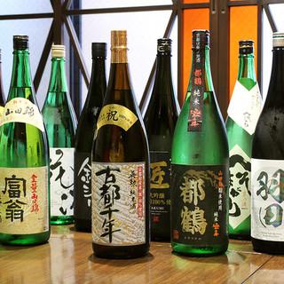 こだわり抜いて選んだお飲物と一緒に「西京焼」を味わう