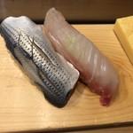 つきぢ神楽寿司 - こはだ・鯛