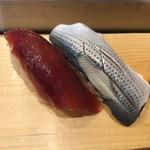 つきぢ神楽寿司 - づけまぐろ・こはだ