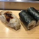 つきぢ神楽寿司 - 穴子・かんぴょう巻き