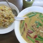 吉祥 - 料理写真:台湾味噌ラーメン+炒飯