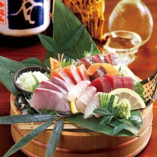 新鮮な地物の魚を職人が造るお刺身