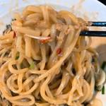 フジヤマゴーゴー - 台湾まぜそば(にんにく有り)を混ぜた後の麺