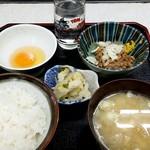 食堂 うえき - 納豆定食:350円