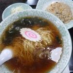 小平飯店 - 料理写真:'19/04/30 ラーメンセット(税込800円)