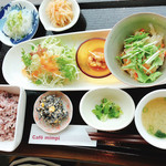 Cafe Mimpi - mimpiのお昼御飯 アジの和風マリネランチ   1180円税込