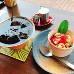 Cafe Mimpi - ベジタブルプレートランチ アイスコーヒーとデザート