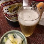 106749029 - ビールとお通しとcheeアナゴさんとコツメ君。