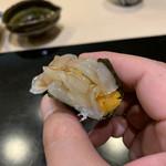 味あら井 - 伊勢海老とウニの海苔巻き
