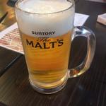 もつ焼き・焼鳥・もつ鍋・おでん 串焼き神社 - 始まりの生ビール