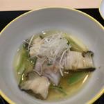 味あら井 - 甘鯛と鮑のすっぽん出汁餡掛け
