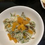 味あら井 - じゃこ、筍、山国川産青海苔の炊き込みご飯       自家製カラスミ添え