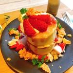 106760195 - いちごミルクのミルフィーユ風パンケーキ