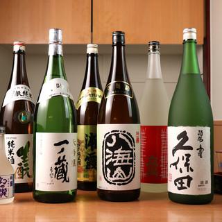【地酒×寿司】厳選した全国の地酒をご提供