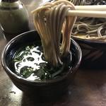 日精そば - 山葵も、ツユも美味い!(2019.4.30)