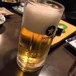 すし居酒屋 アルプス - 生ビール