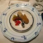 106767296 - アミューズ  プレノワールのすり身と酢漬け野菜のピクルス添え