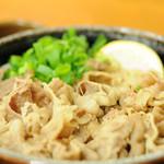 麺処 綿谷 - 温温肉ぶっかけ大