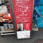 紀ノ川 - 店外掲示
