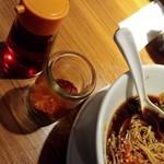 ホウテン食堂 奉天本家 - 奉天中華ソバ-一味&辣油投入