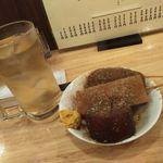 かぶら屋 - 料理写真:デンキブランソーダ割り&黒おでん